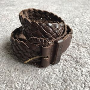 Abercrombie and Fitch braided leather belt